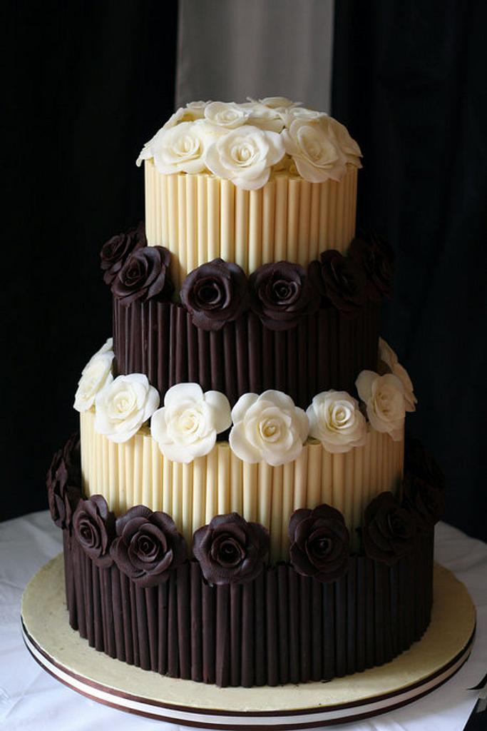Chocolate wedding cake by BeesNees