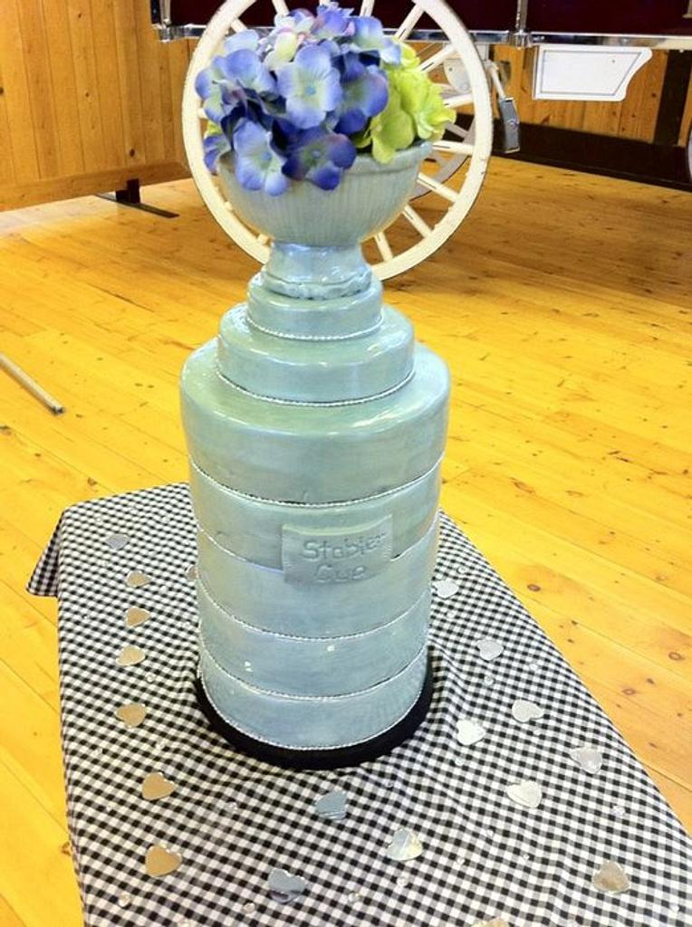 Stanley Cup wedding cake by cakesbymary