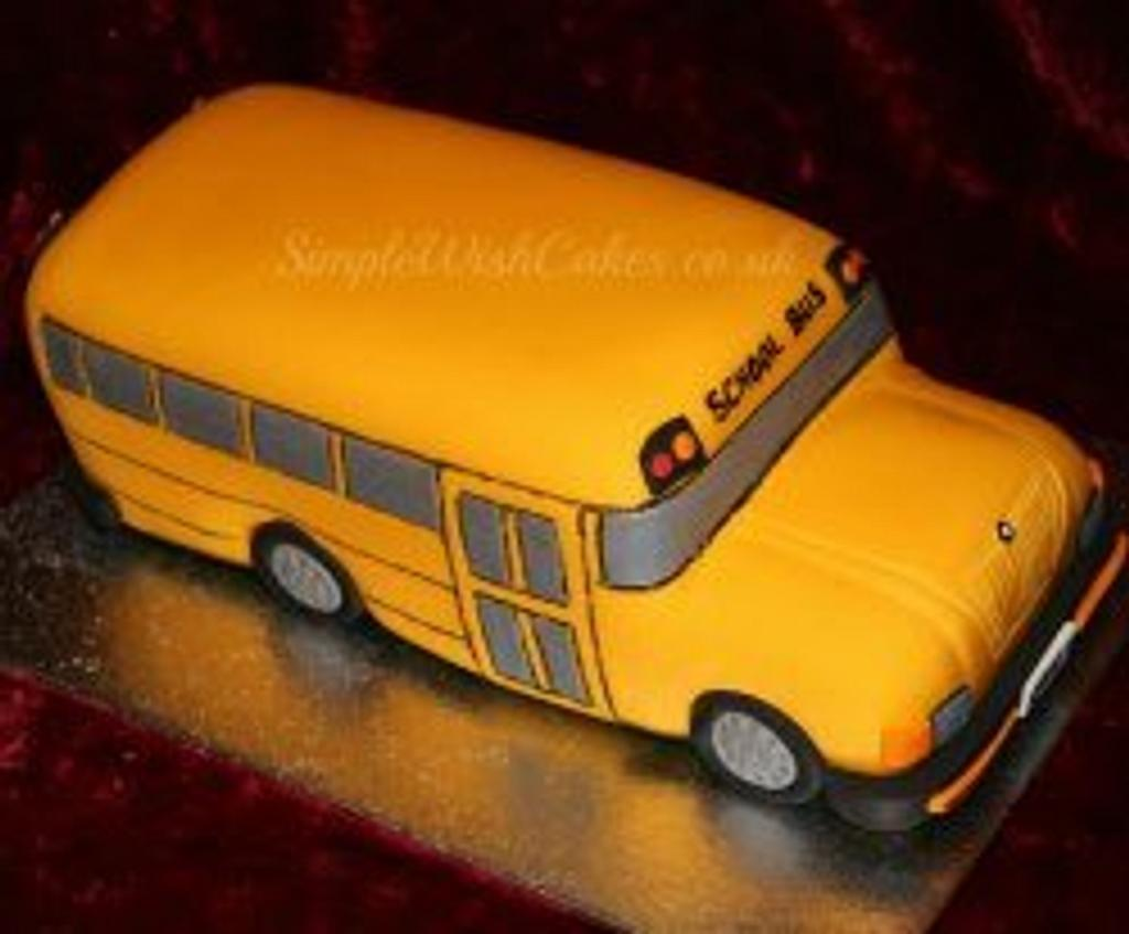 School bus Birthday Cake by Stef and Carla (Simple Wish Cakes)
