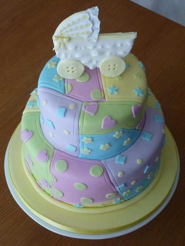 Kate's Baby Shower Cake by Strawberry Lane Cake Company