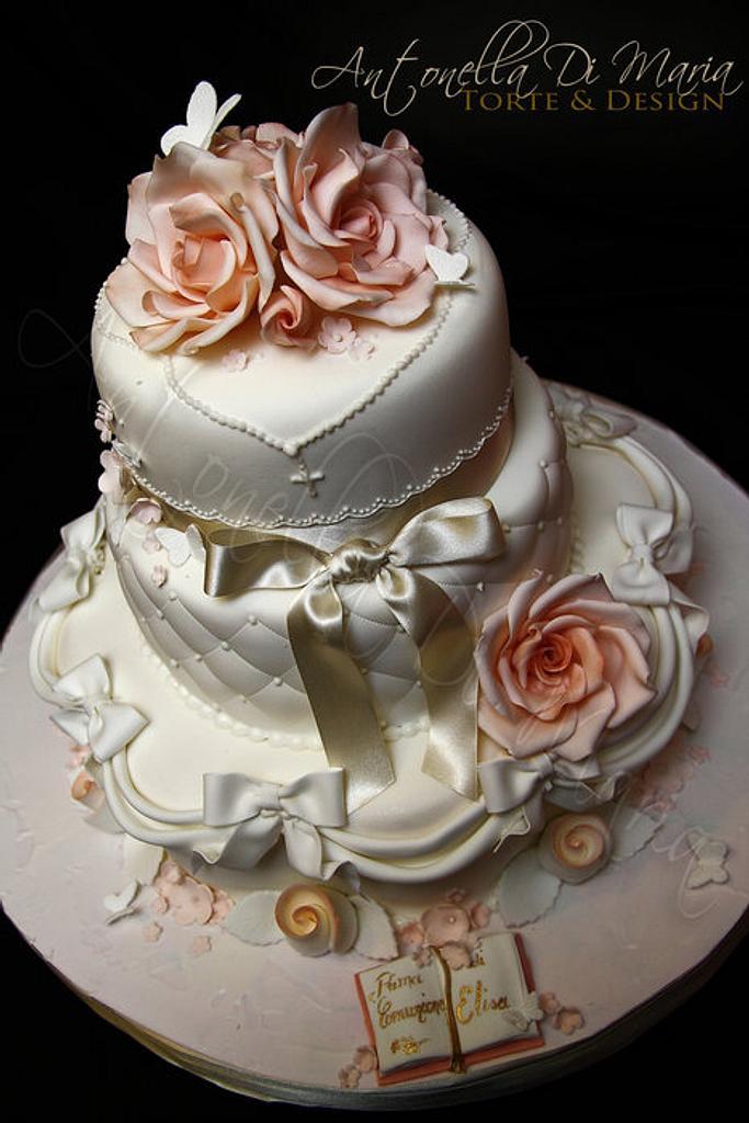 First Communion cake Romance by Antonella Di Maria