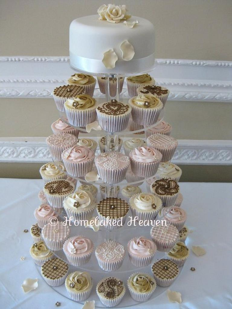 Wedding cupcakes by Amanda Earl Cake Design