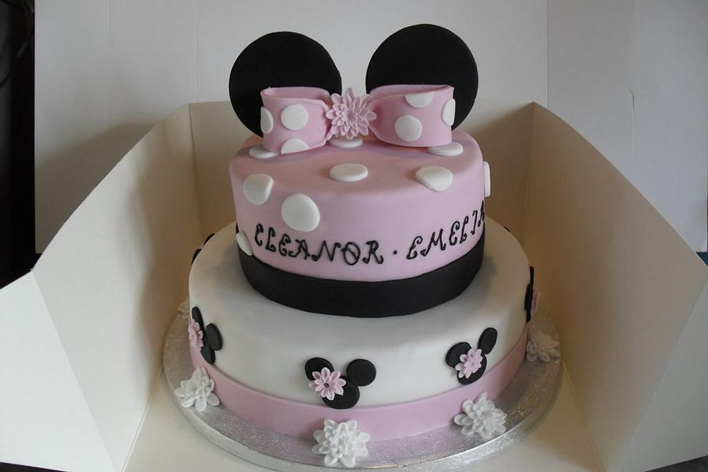 Minnie Mouse Christening Cake by David Mason