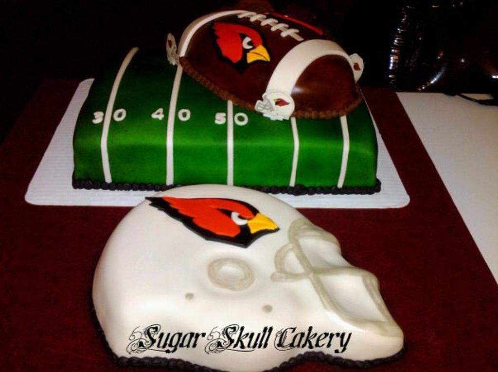 Arizona Cardinals Cake by Shey Jimenez