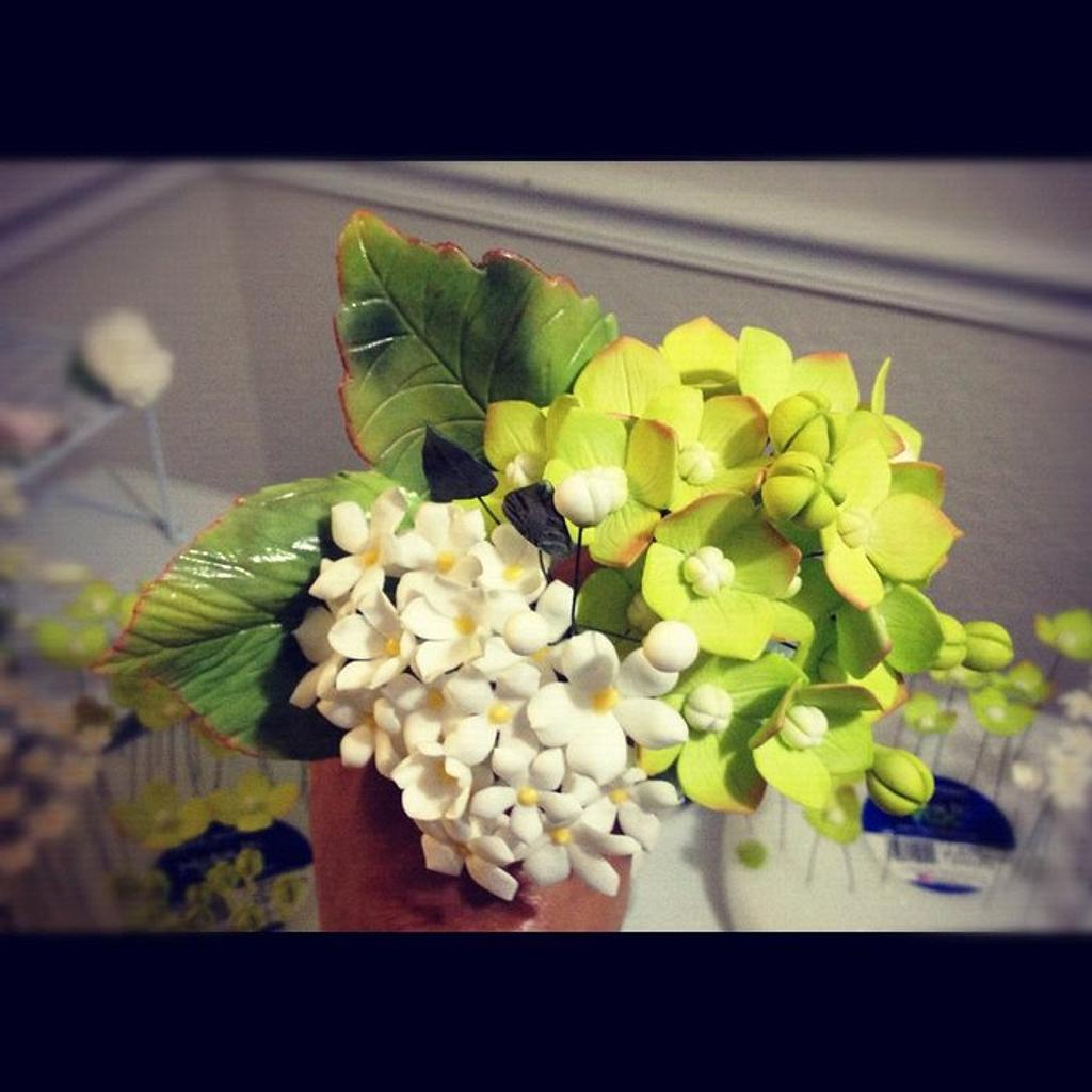 My finished sugar flower bouquet (^_^)!!! My first time making this, and I'm so happy w/ the result  by Malati
