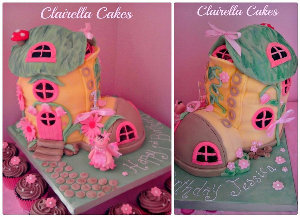 Fairy Boot Cake by Clairella Cakes