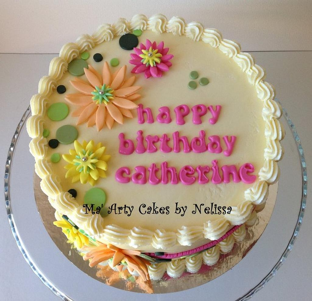Flower Cake by Ma' Arty Cakes by Nelissa