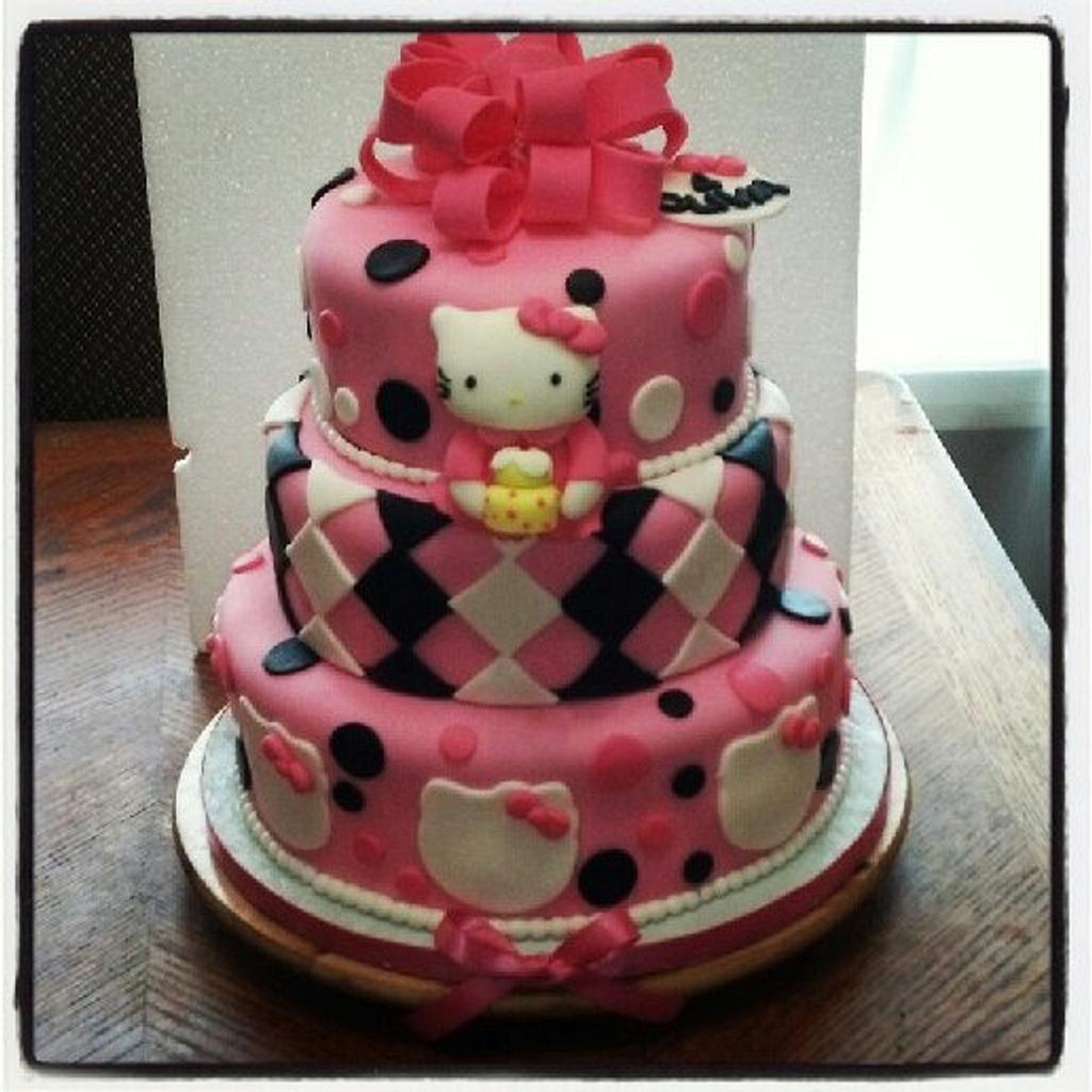 HELLO KITTY CAKE by Joyce Marcellus
