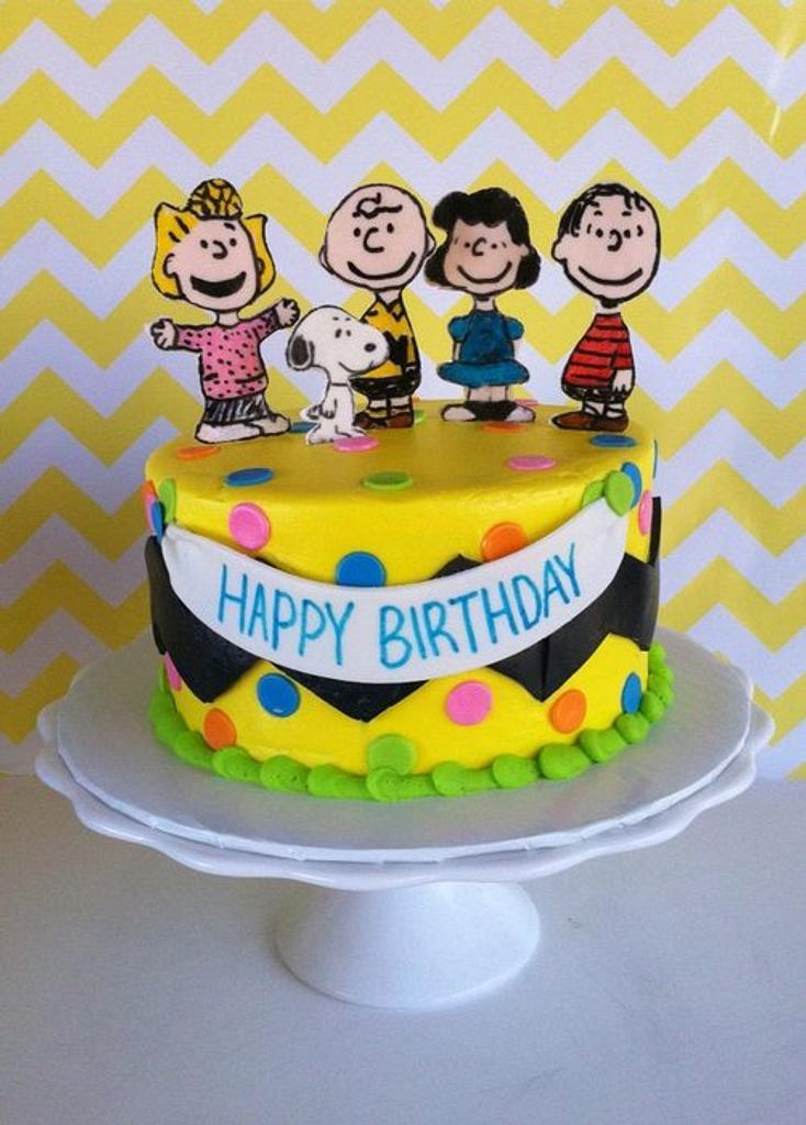 Peanuts Gang Cake by Michelle