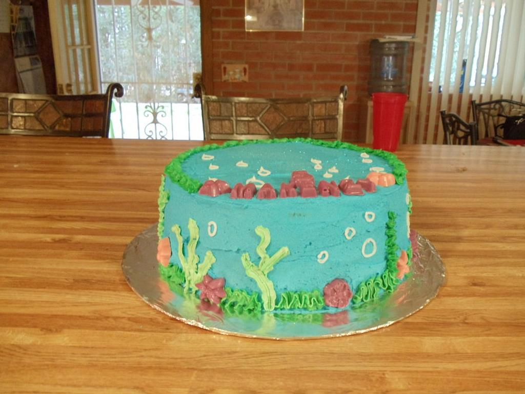 Birthday Under the Sea Cake by Tamara Bemiss