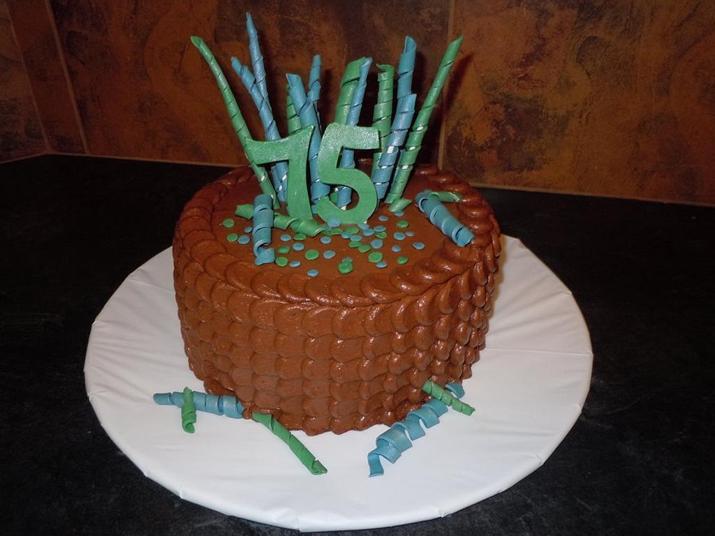 75th Birthday Cake by sweetpeacakemom