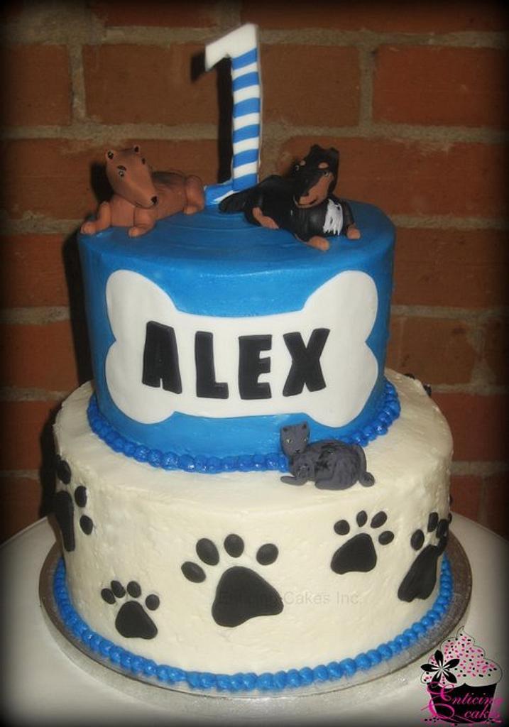 Barkin' Blue Birthday Cake by Enticing Cakes Inc.