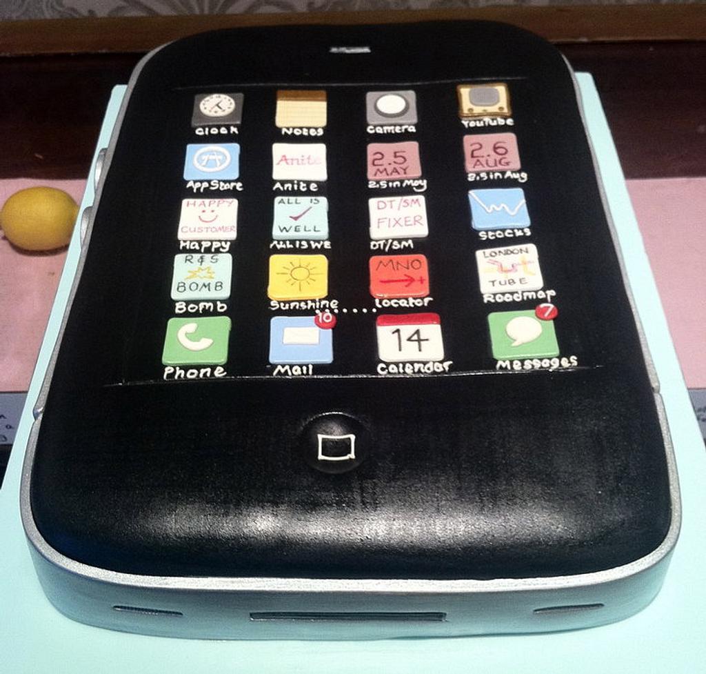 iPhone Cake by Nina Stokes