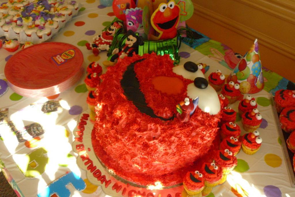 Elmo first birthday by gail