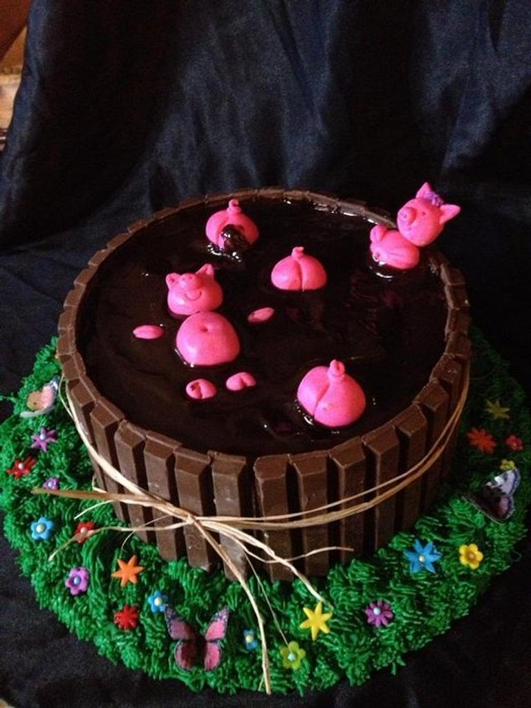 """Piggie """"Mud"""" Bath by beth78148"""