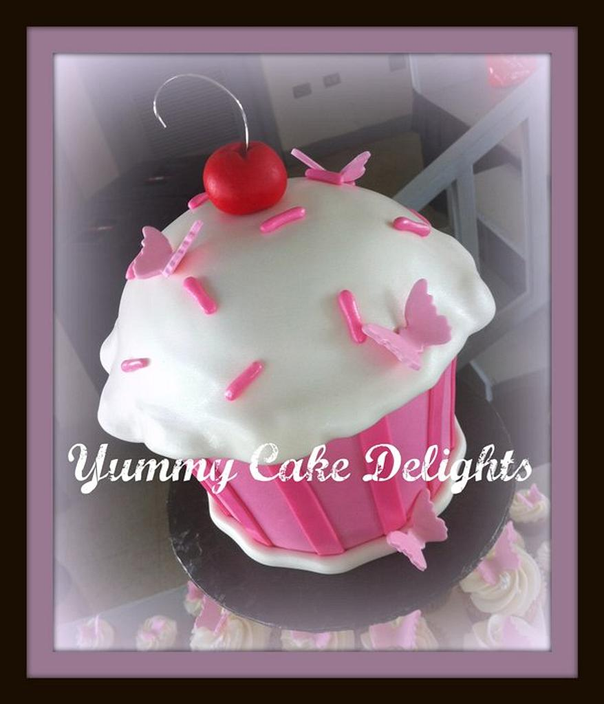 Butterfly Cupcake Cake by Kathryn
