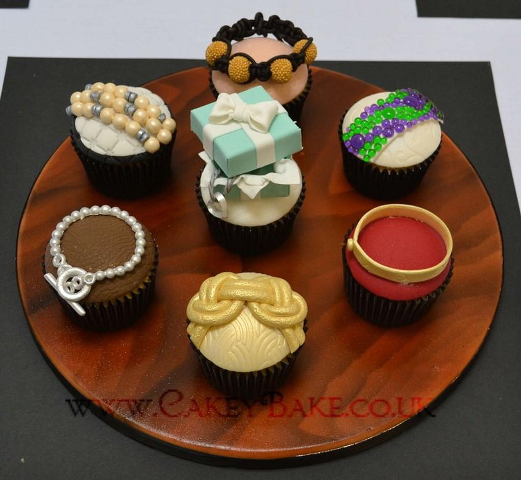 Designer Jewellery Cupcakes by CakeyBake (Kirsty Low)
