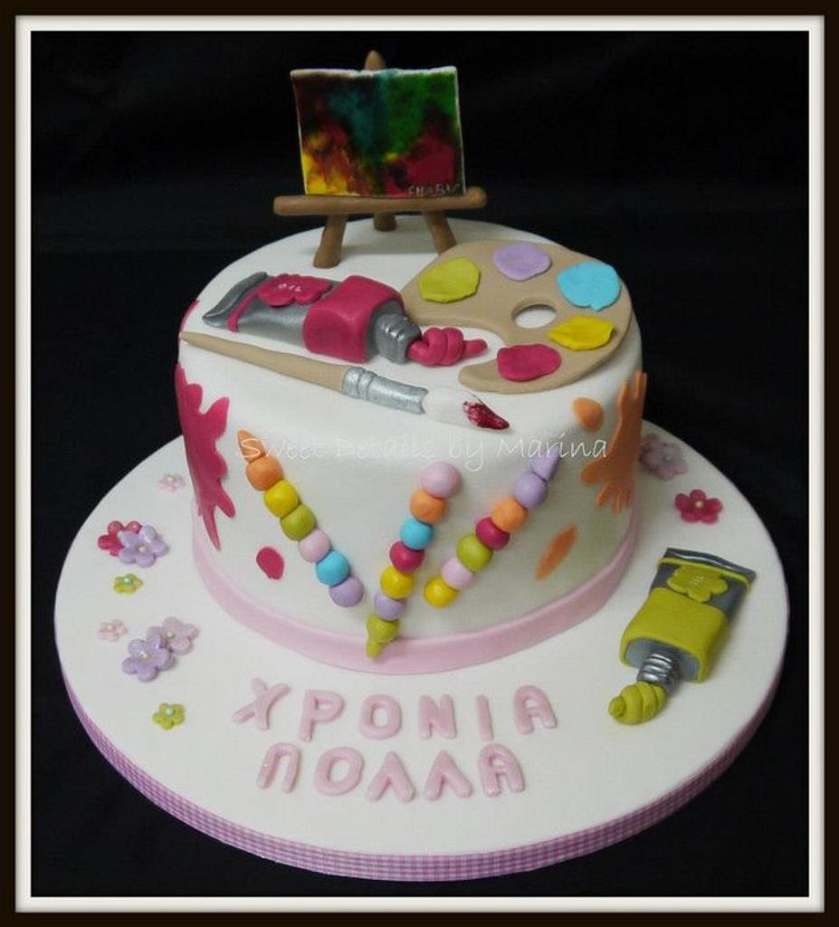 Art Lover cake by Marina Costa