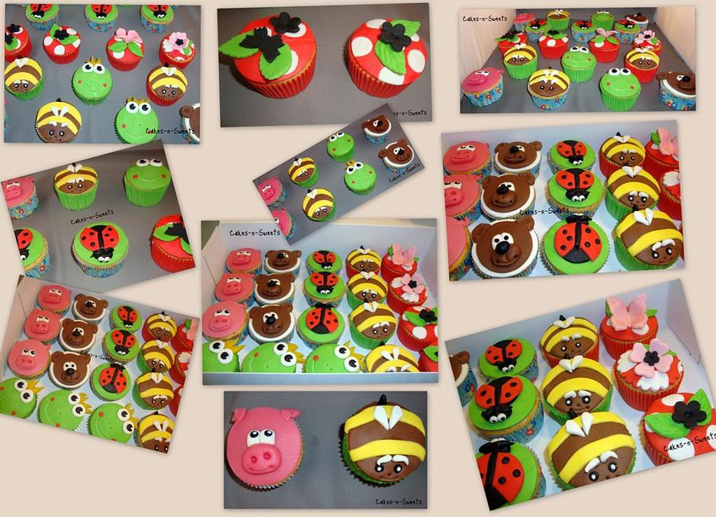 Animal cupcakes by Cakes-n-Sweets