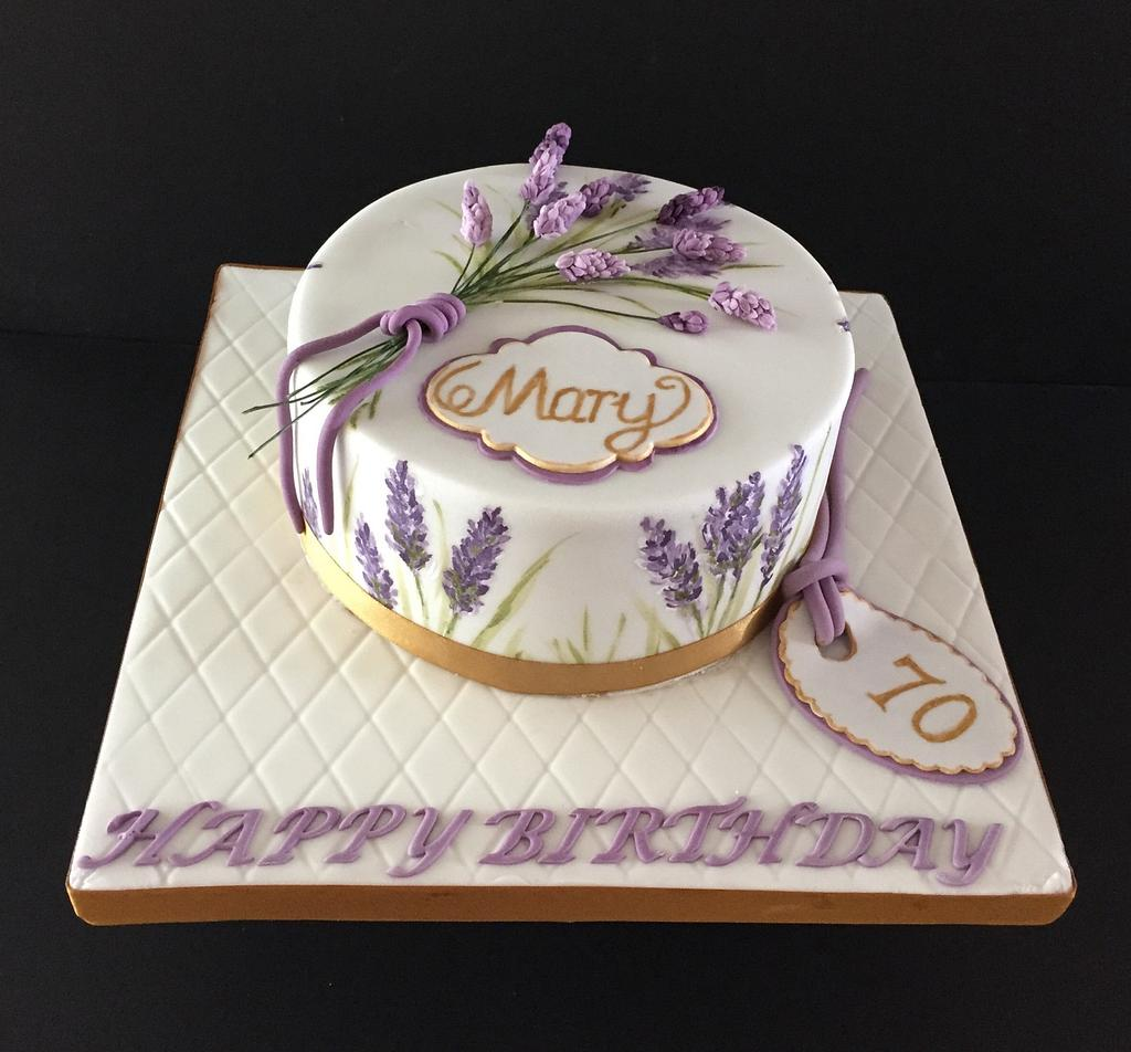 Lavender painted birthday cake by Jill saunders