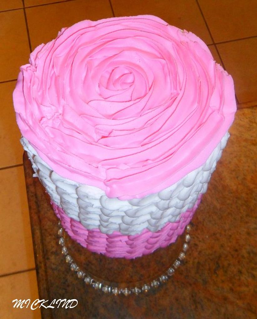 A ROSE PETAL CAKE by Linda