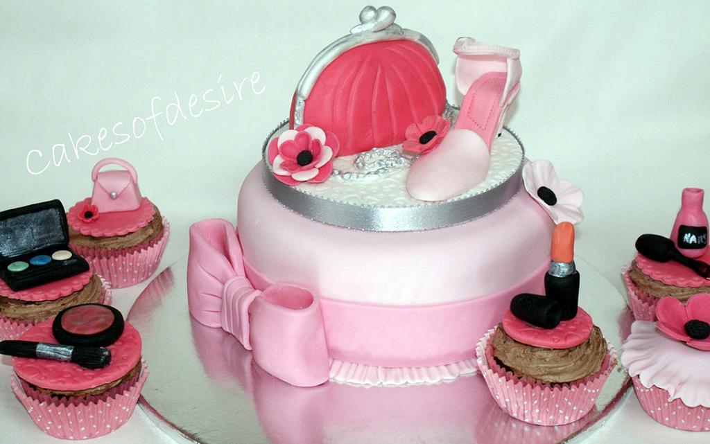 Girly cake by cakesofdesire