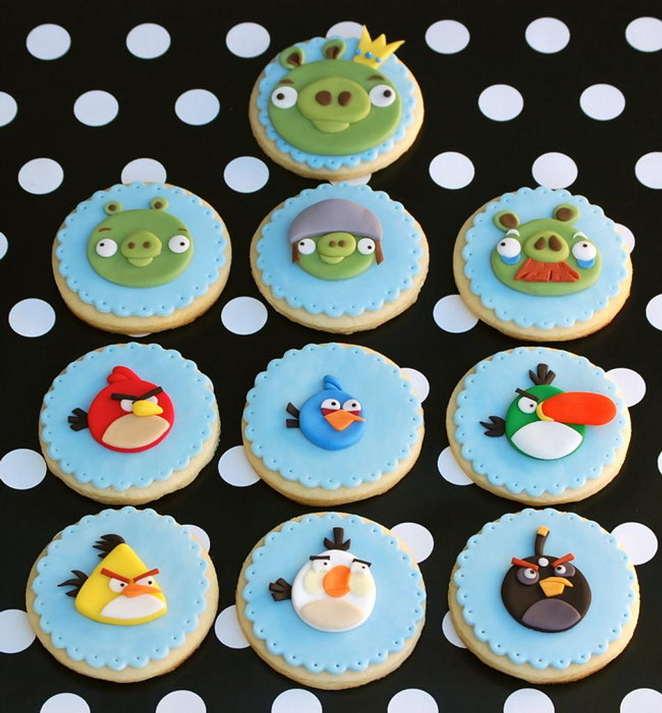 Angry Birds Cookies by Lesley Wright
