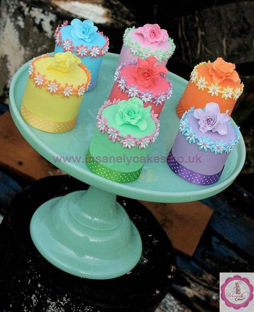 Spring 2013 Mini Cakes Selection by InsanelyCakes