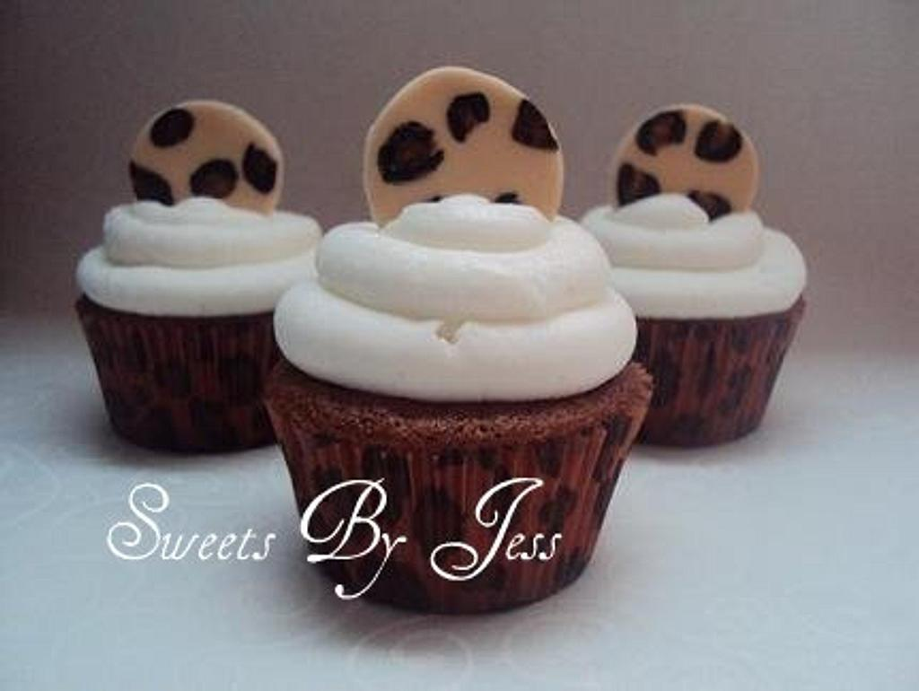 Leopard cupcakes by Jess B
