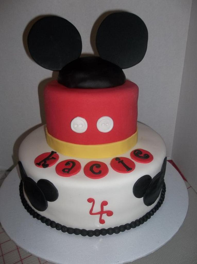 Mickey Mouse Cake by gemmascakes