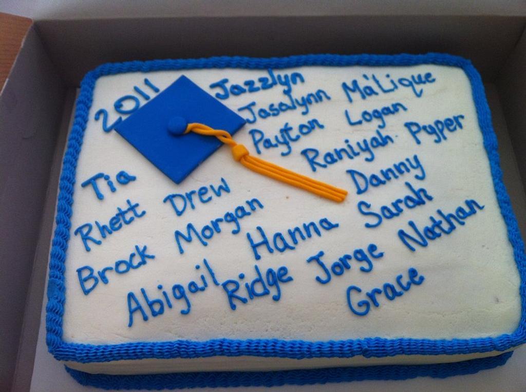 kindergarten graduation cakem by Jen Scott