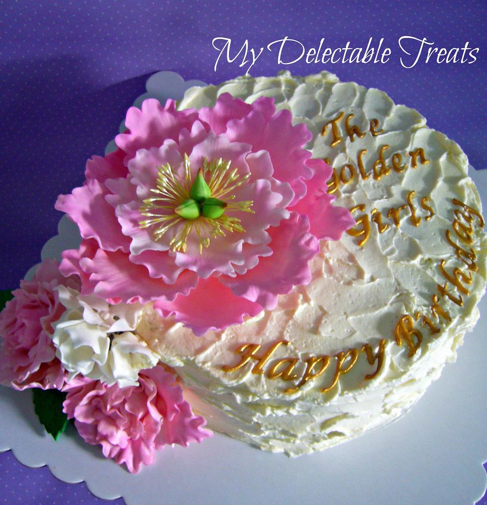 Karen's 50th Birthday Cake by Donna Dolendo