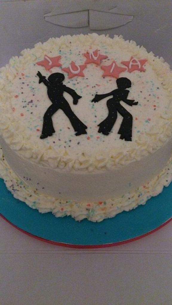 70s inspired disco cake by Sandra Agustini