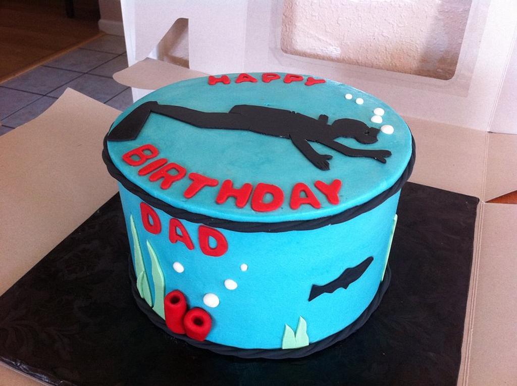 scuba cake by Rebecca Litterell