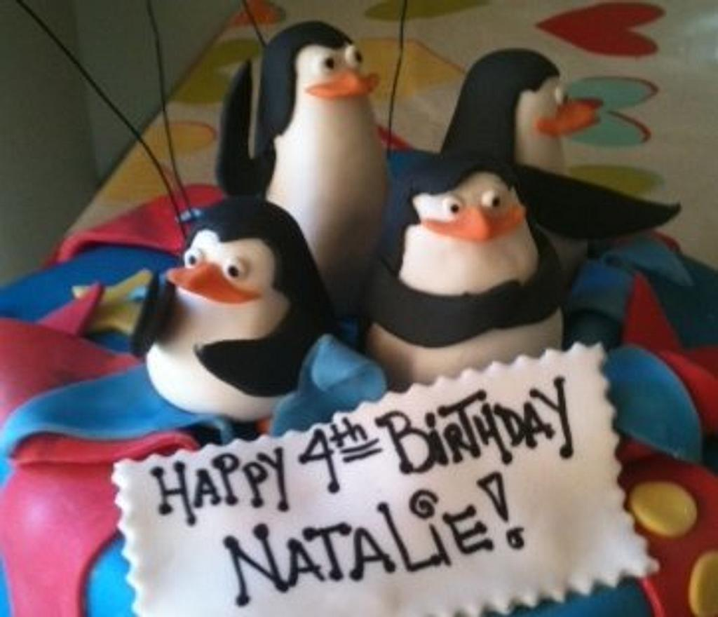 Penguins of Madagascar by Hot Mama's Cakes