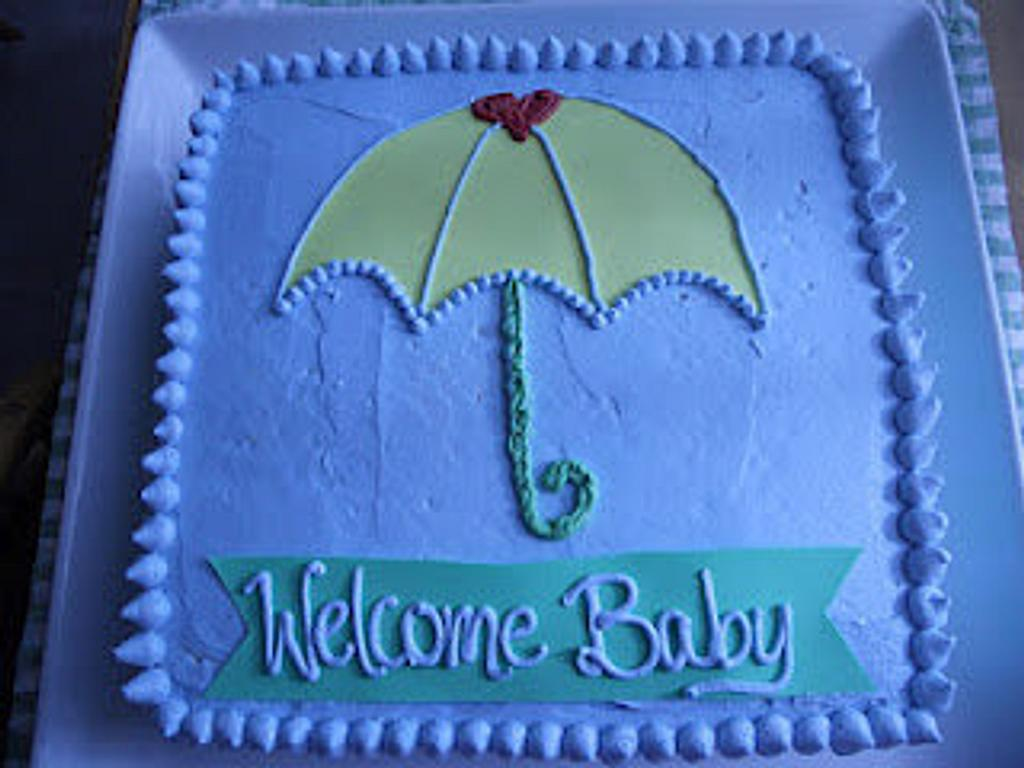 Umbrella Baby Shower by bakedbyrachel