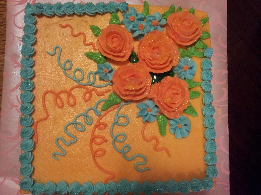 flower on cake by CAKE RAGA