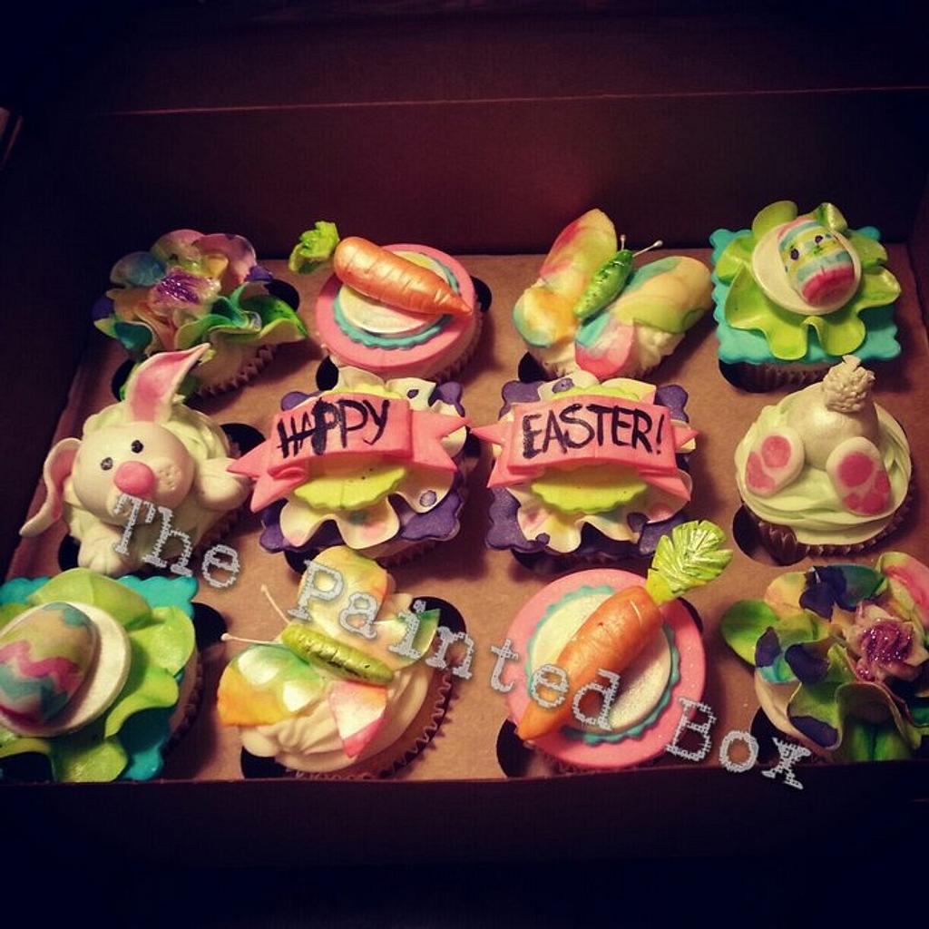 Happy Easter Bunny Cupcakes by The Painted Box