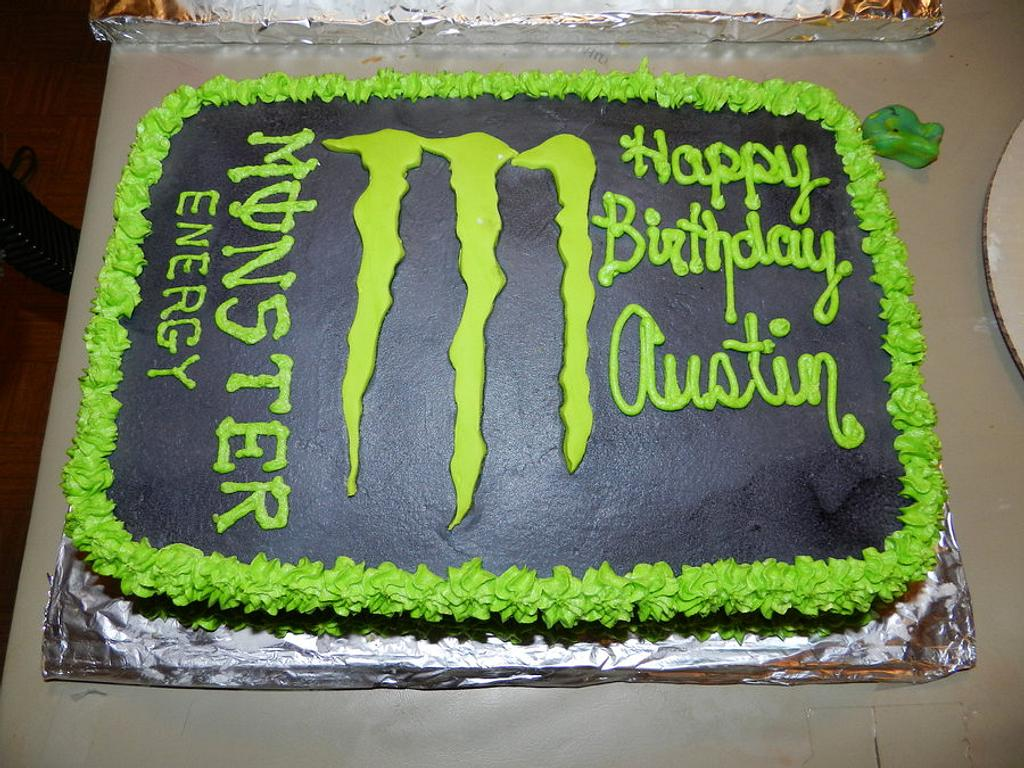 Monster Energy Cake by AneliaDawnCakes