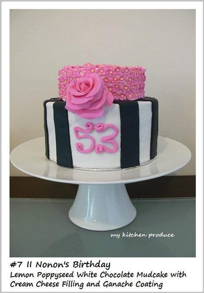 Black-White- Pink Cake by Linda Kurniawan