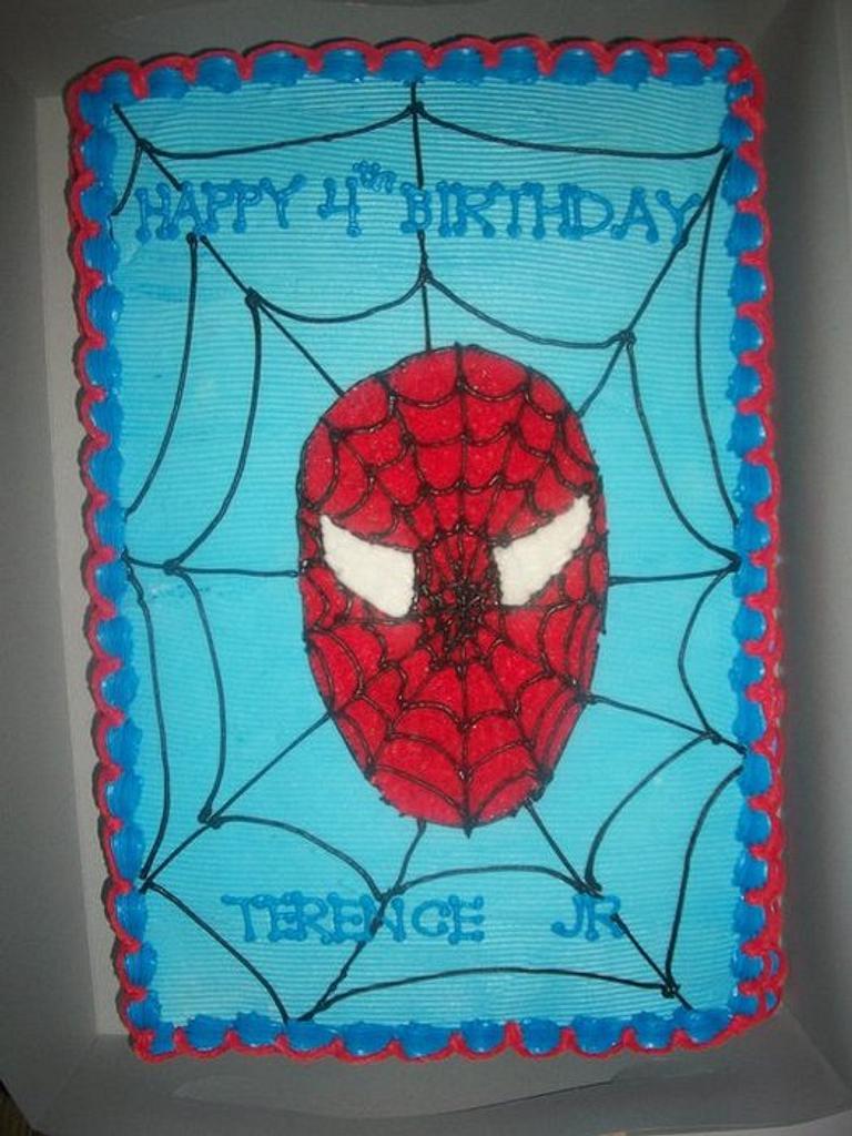 Spiderman Sheet Cake by caymancake