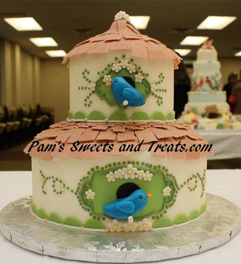 Birdhouse Cake by Pam
