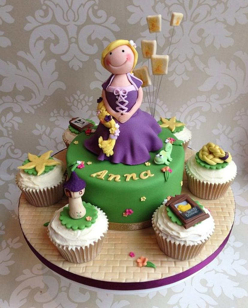 Rapunzel cake & cupcakes by Sugar Sweet Cakes