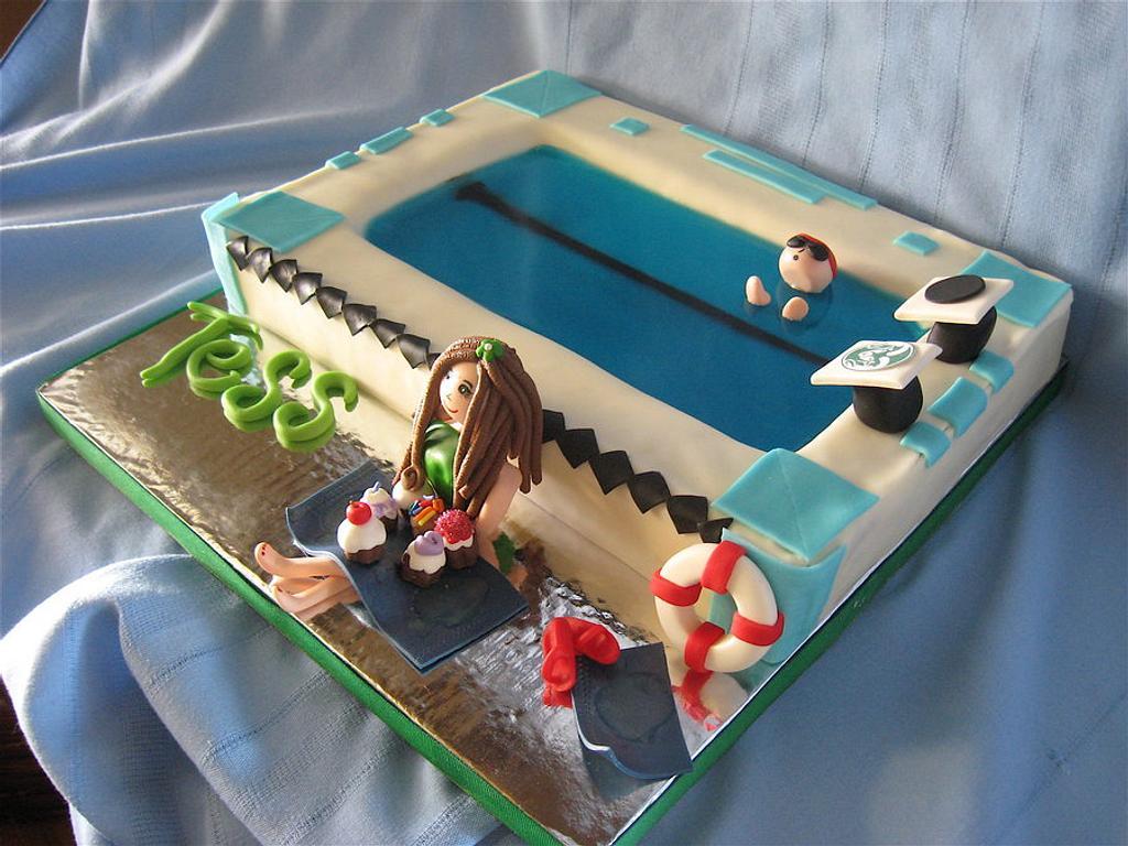 CSU Rams Swimmer Cake by Kat