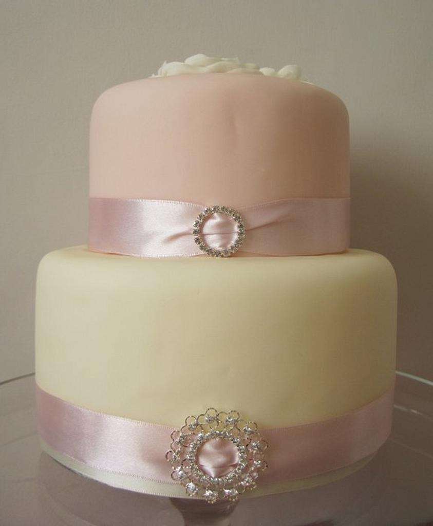 Pink and ivory celebration cake by Victoria Hobbs
