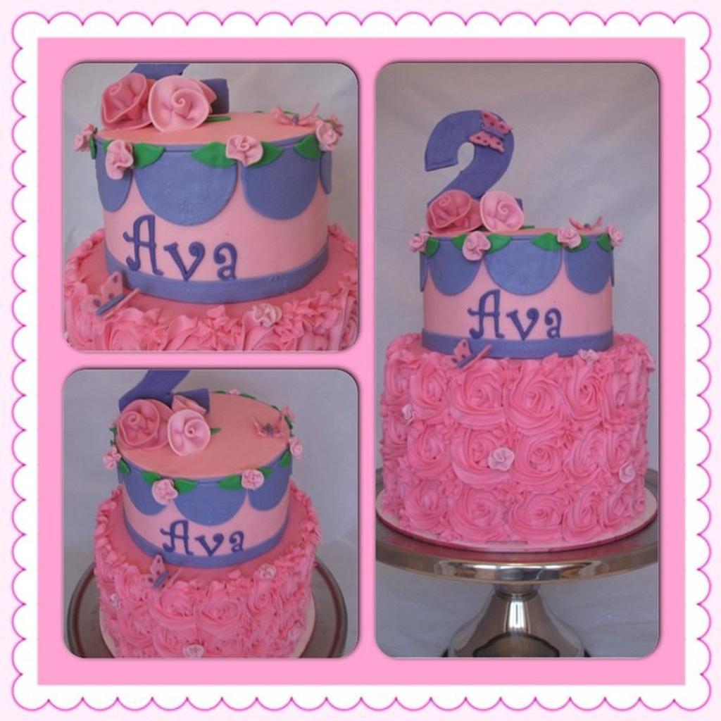 Rosettes 2 Tier by Jolirose Cake Shop