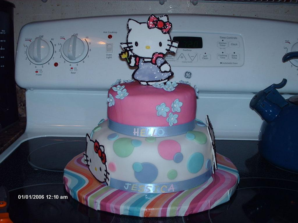 Hello Kitty Birthday Cake  by Cakes_by_Nai