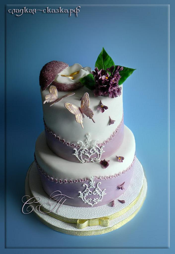 purple cake by Svetlana