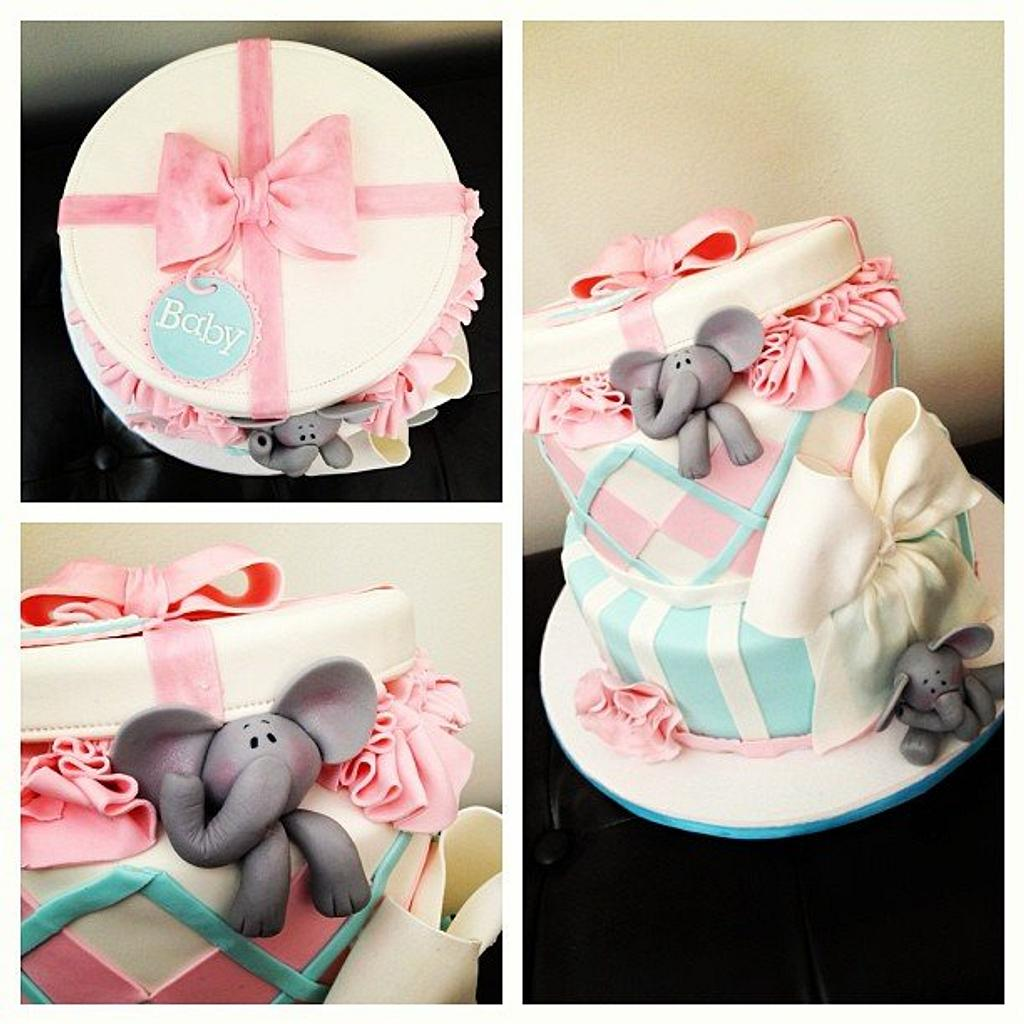 Baby Elephant Baby Shower Cake by Esther Williams