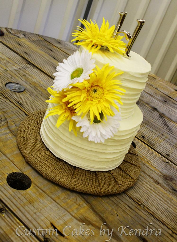 Sweet Little Wedding Cake by Kendra